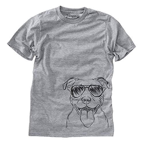Inkopious Major The Pitbull Men's/Women's Triblend T-Shirt Unisex Crewneck Large Grey