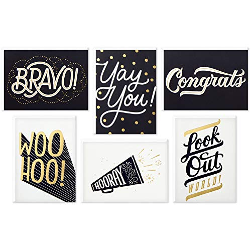 Hallmark Congratulations Card and Graduation Card Assortment (Boxed Set of 24 Cards with Envelopes)