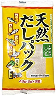 [100% Natural Ingredients] Soup Stock Pack (Dashi Pack) No-MSG [English instructions on the back] 6 bags (1.69 oz)