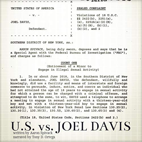 United States vs. Joel Davis audiobook cover art