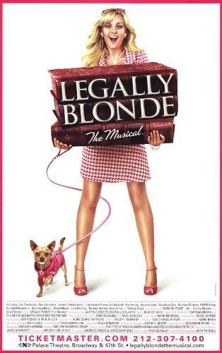 Póster de Discount Legally Blonde The Musical de Broadway Theater Play de 11 x 17