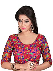 98deb33ea5a24b Kuvarba Fashion Multi Color Fabric Cotton   Net Embroidered Readymade  Designer Blouse