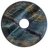 Lebensquelle Plus Piedra preciosa de ojo de halcón, donut, diámetro de 40 mm, colgante