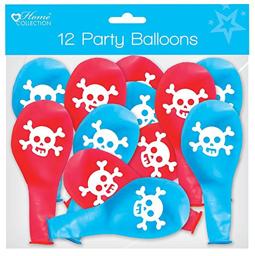Pirate Party Children's Happy Birthday Party Party Balloons Blue & Red