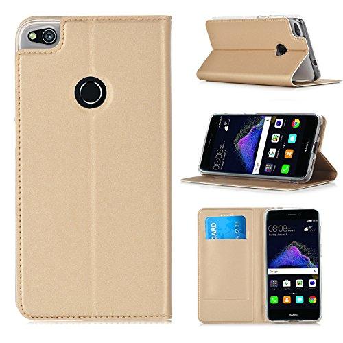 ELTD Huawei P8 LITE 2017 Case, Flip Cover/Case/Hülle/Tasche/Schutzhülle Für Huawei P8 LITE 2017, Gold