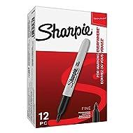 Sharpie Permanent Markers | Fine Point | Black | 12 Count