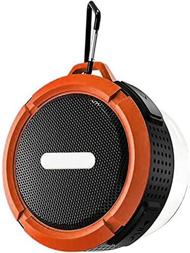 Sunattierss Bluetooth Speakers, IP6 Waterproof, HD Sound and Rich Stereo Bass, Long Playtime Portable Bluetooth Speaker(Orange)
