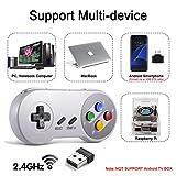 miadore 2.4G Wireless Controller Chargeable Classic SNES USB Gamepad Joystick mit USB-Empfänger/Ladekabel für Spiele, Unterstützung PC Windows Mac und Retropie Gamepad NES/SNES Emulator