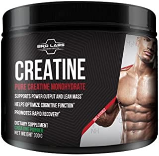 Pure Creatine Monohydrate Powder - Optimum Muscle Builder for Serious Mass and Power Output + Promotes Rapid Recovery by Bro Labs & Brandon Carter