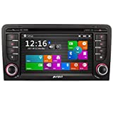 PUMPKIN 7 Zoll 2 Din Autoradio DVD Player Moniceiver mit GPS Navigation für Audi A3 2003...
