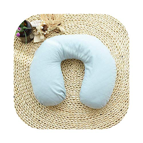 Edomi Buckwheat Neck Pillow Comfortable U Shaped Travel Pillow Neck Pain Relief Pillows Portable Pillow for Sleeping Recliner Chair Washable Pillowcase Buckwheat Hulls Filling (Macaron Blue)