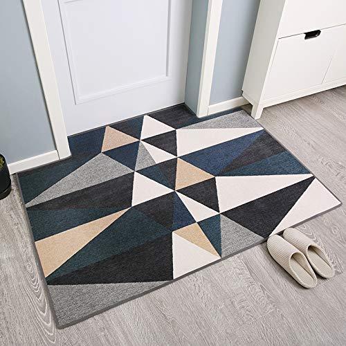 Bangso Tapijt, antislip, voor slaapkamer, deur, deur, personaliseerbaar, voetmat, wateropname, deur, 50 x 80 cm, driehoek
