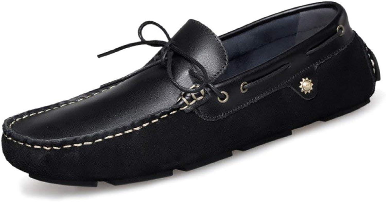 Willsego Mnner rutschfeste handgemachte lederne Stiefelschuhe beilufige Müiggnger Mode Mokassins Schuh Beleg auf Driving Schuhe (Farbe   Schwarz, Gre   47)