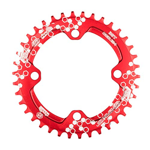 EASTERN POWER Corona 32T BCD 104, 32T Corona Singola per Bicicletta, Corona 32 Denti 104 mm MTB in Alluminio per Mountain Bike, Rosso