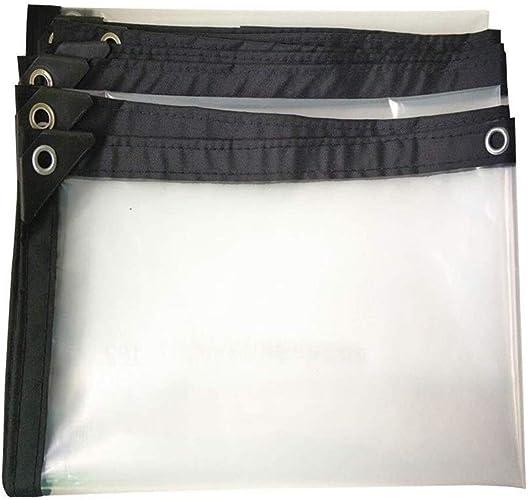 Wangcfsb Verre Transparent Imperméable Lourd 99% Transparent Isolant en Tissu Bord en Plastique Renforcé Film Anneau en Métal Trou Bache Extérieure (Couleur   Clear, Taille   4x7m)