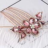 Horquilla horquilla horquilla horquilla horquilla inserto peine flequillo peine cabeza esférica horquilla clip en forma de U, 01 rosa