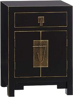 Consola con Rejilla Shabby Chic Beige de Mimbre y Madera de 80x34x78 cm - LOLAhome