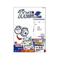 (まとめ買い) ヒサゴ マルチプリンタ帳票 B5 白紙 2面 4穴 100枚入 BP2053 【×3】