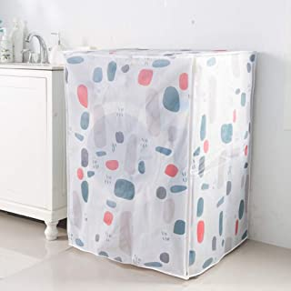 Washing Machine Cover, Waterproof Washing Machine Cover Sunscreen Cover Washer Dryer Protection Cover, Dust proof,Natural