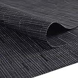 SHACOS Tischläufer Schwarz PVC Tischläufer Abwaschbar Hitzebeständig rutschfest Bambus Tischläufer Perfekt für Esstisch Restaurant Holztisch 30 X 180cm - 3