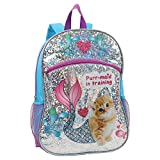 Confetti Girls' Purr-Maid in Training Print Backpack, Blue, One Size