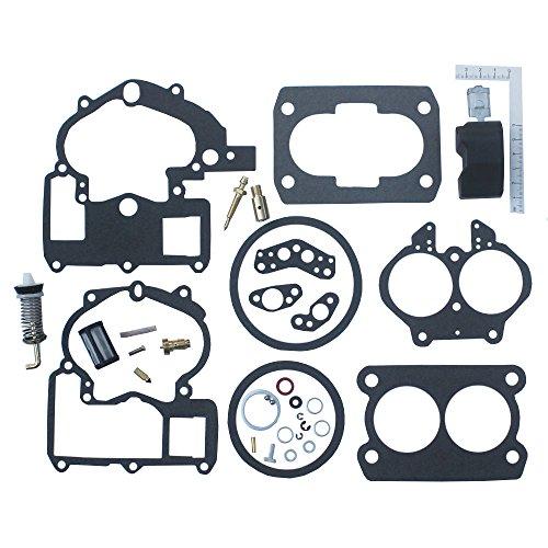 Kit de reparo de carburador KIPA para carburador Mercruiser Marine 2 Barrel Rochester Carburador com FLOAT 3302-804844002# 1389-9562A1 1389-9563A1 1389-9564A1 1389-9670A2 1389-806077A2 1389-806078A2