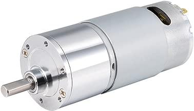 uxcell 12V DC 300 RPM Gear Motor High Torque Reduction Gearbox Eccentric Output D Shaft