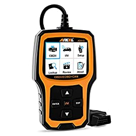 Ancel ad410 enhanced obd ii vehicle code reader automotive obd2 scanner auto check engine light scan tool emission… 1 wide compatibility - recommended by youtube star scotty kilmer on his channel. Works on most vehicles sold in the usa with model year of 1996 or newer; supports all obdii protocols: kwp2000, iso9141, j1850 vpw, j1850 pwm, and can (controller area network); displays in english, german, french, spanish, finnish, dutch, russian, and portuguese; requires no battery or charger as the unit gets power directly from the obdii data link connector in the vehicle. Critical functionality - reads quickly and erases stored emission-related codes, pending codes, and shows code definitions. Turns off the mil (check engine light), helps in resetting the monitor before taking it to smog, and tells you what is going on before bringing the car in for repair. Enhanced obdii diagnostics - supports o2 sensor and evap (evaporative control) system test. Ad410 code scanner can be used to initiate a leak test on a vehicle's evap system by monitoring the integrity of the fuel tank system. The o2 sensor test is designed to monitor and adjust air/fuel mixture, which will help identify and troubleshoot issues related to fuel efficiency and vehicle emission.