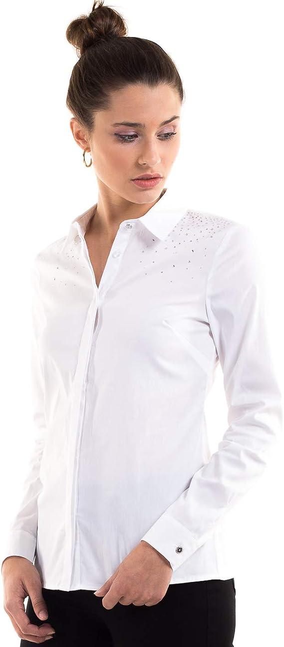 Morgan de Toi Camisa Blanca Brillantes (Blanco - 36): Amazon ...