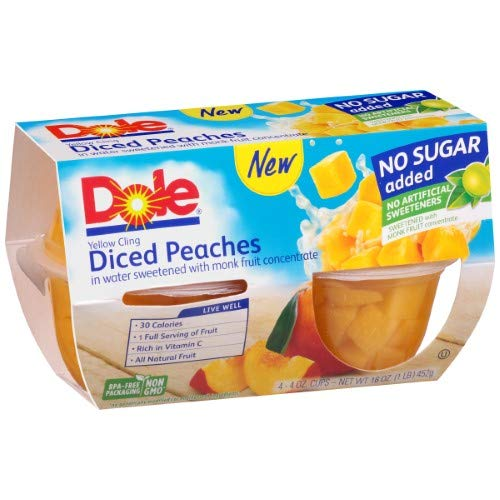 Yellow Cling Diced Peaches 2 of Pack Houston Mall Fixed price for sale
