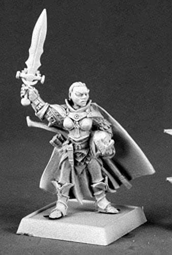 Seelah Iconic Female Paladin Pathfinder Miniature by Reaper by Reaper