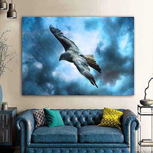 Modernes Adlervogel-Tierplakat und Druckbild-Wandbild-Leinwand-Gemälde-Wandbild-Wohnzimmer-Hauptdekor-rahmenloses Leinwandgemälde A14 30x40cm
