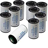 Pack of 10 C Size Converter Case, AA to C battery adaptor, 1 AA Battery to 1 C Size Adaptor Spacer(no batteries included)