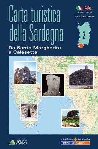 Sardinien Wanderkarte, Karte, Landkarte, Abies, da Santa Margherita a Calasetta, Capo di Pula, Teulada, Costa del...