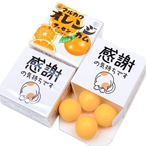 吉松 マルカワガム [ 感謝の気持ち / オレンジ ] 24個入 挨拶 お礼 感謝 退職 メッセージ お菓子 プチギフト ( 個包装 )