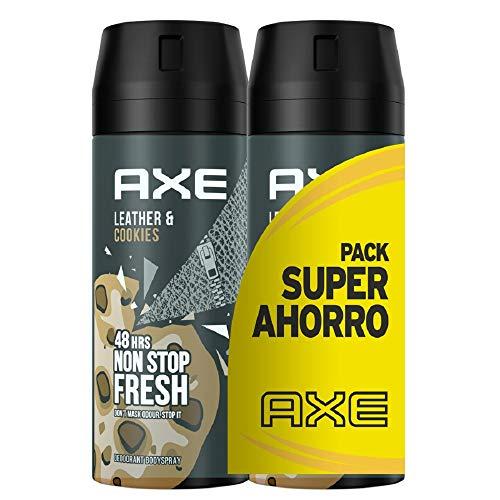 AXE Leather&Cookies- Desodorante Pack Duplo Ahorro 2x 150 ml