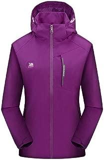 UUYUK Men Softshell Mountain Windproof Waterproof Outdoor Hoodie Jacket Coat