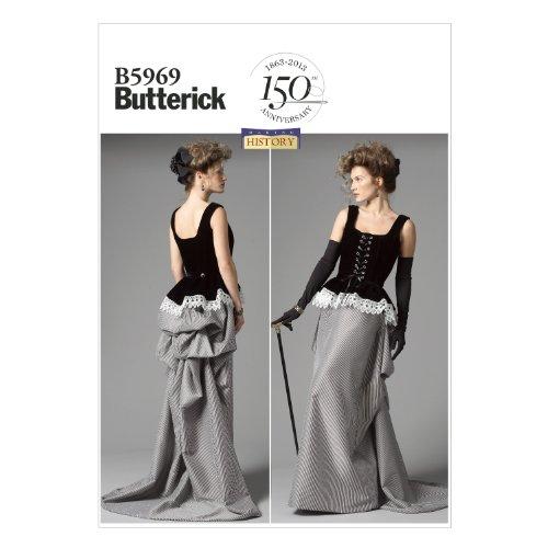 【Butterick】コスチューム 歴史的衣装の型紙セット サイズ:US6-8-10-12-14 *5969
