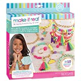 make it real - neo-brite catene e charms. gold chain fai da te kit rendendo collana di fascino per le ragazze. arti e mestieri kit per realizzare bracciali tween unici con perline neon