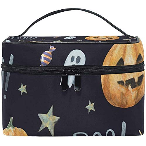 Boo Pattern Makeup Case Cosmetic Bag, Capacity and Adjustable Makeup Bags Waterproof Toiletry Bag-TOB-7587