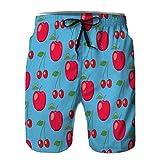 Pantalones Cortos de Verano para Hombres Pantalones Cortos Casuales para Deportes al Aire Libre Estilo Abstracto xuxuxu sin Costuras M