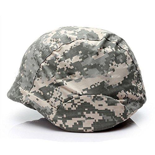 ECYC Camouflage CS Jeu Escalade Housse De Casque De VéLo, Housse De Casque De Casque Tactique