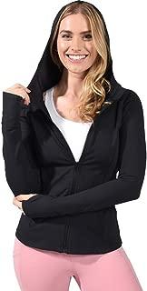 Womens Long Sleeve Full Zip Up Hoodie Jacket