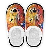 Mnsruu Zapatillas de algodón antideslizantes para hombre y mujer, diseño de casa de lobo, color, talla 41/43.5 EU