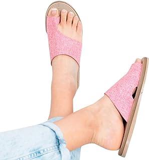 3cm Zapatos de Verano esc/ándalo de la cu/ña de los Pisos de la se/ñora Sandalias de Plataforma tama/ño 35-43 EU Blanco,Rosado