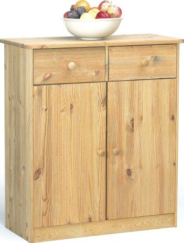 Steens Mario Kommode, 2 Türen, 2 Schubladen, 78 x 89 x 34 cm (B/H/T), Kiefer massiv, gelaugt geölt