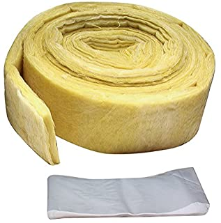 """M-D Building Products 4929 3-inches-by-25-Feet Fiberglass Pipe Wrap(3"""" x25'), Yellow"""