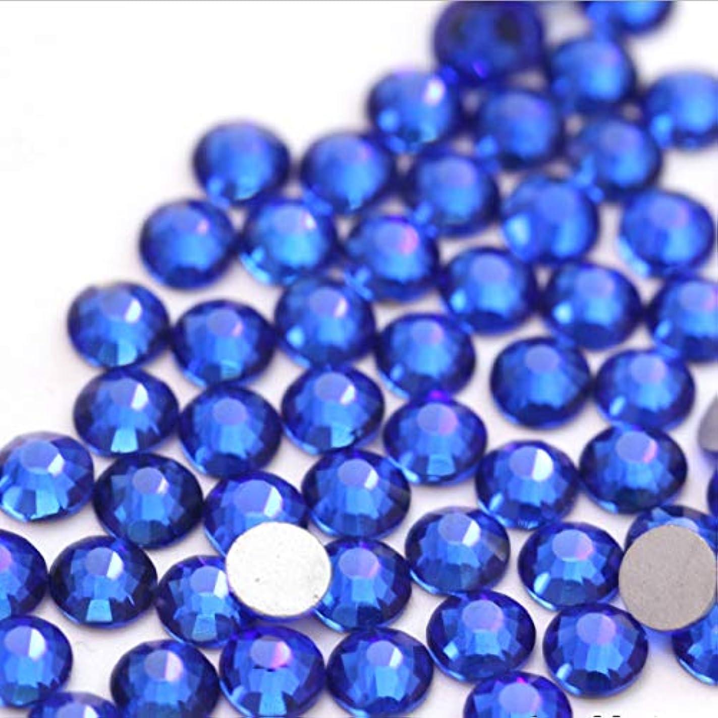 乏しいネコ刈る【ラインストーン77】 超高級 ガラス製ラインストーン SS4~SS30 サファイア スワロフスキー同等 (6.3mm (SS30) 約45粒)
