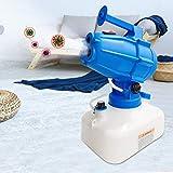 S SMAUTOP Spruzzatore Disinfettante Elettrico 5L 1200W Portatile 3 Ugelli Macchina per Nebulizzatore Fogger di Disinfezione Germe Killer per Fabbrica, Scuola, Ospedale, Giardino (Blu)