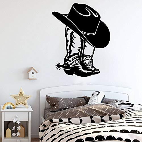 YuanMinglu Cowboy Cowboy Stiefel und Hut Western Cowboy Cowboy Stiefel Schuh Auto Laptop Applique Wandaufkleber Vinyl Dekoration 16x12 cm